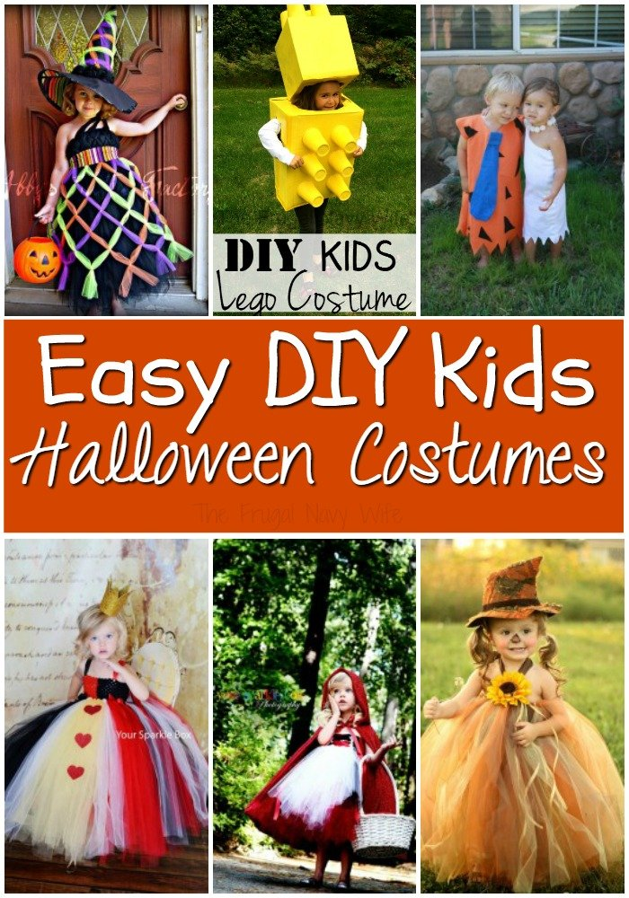 DIY Halloween Costume Ideas for Kids  sc 1 st  The Frugal Navy Wife : pics of homemade halloween costumes  - Germanpascual.Com