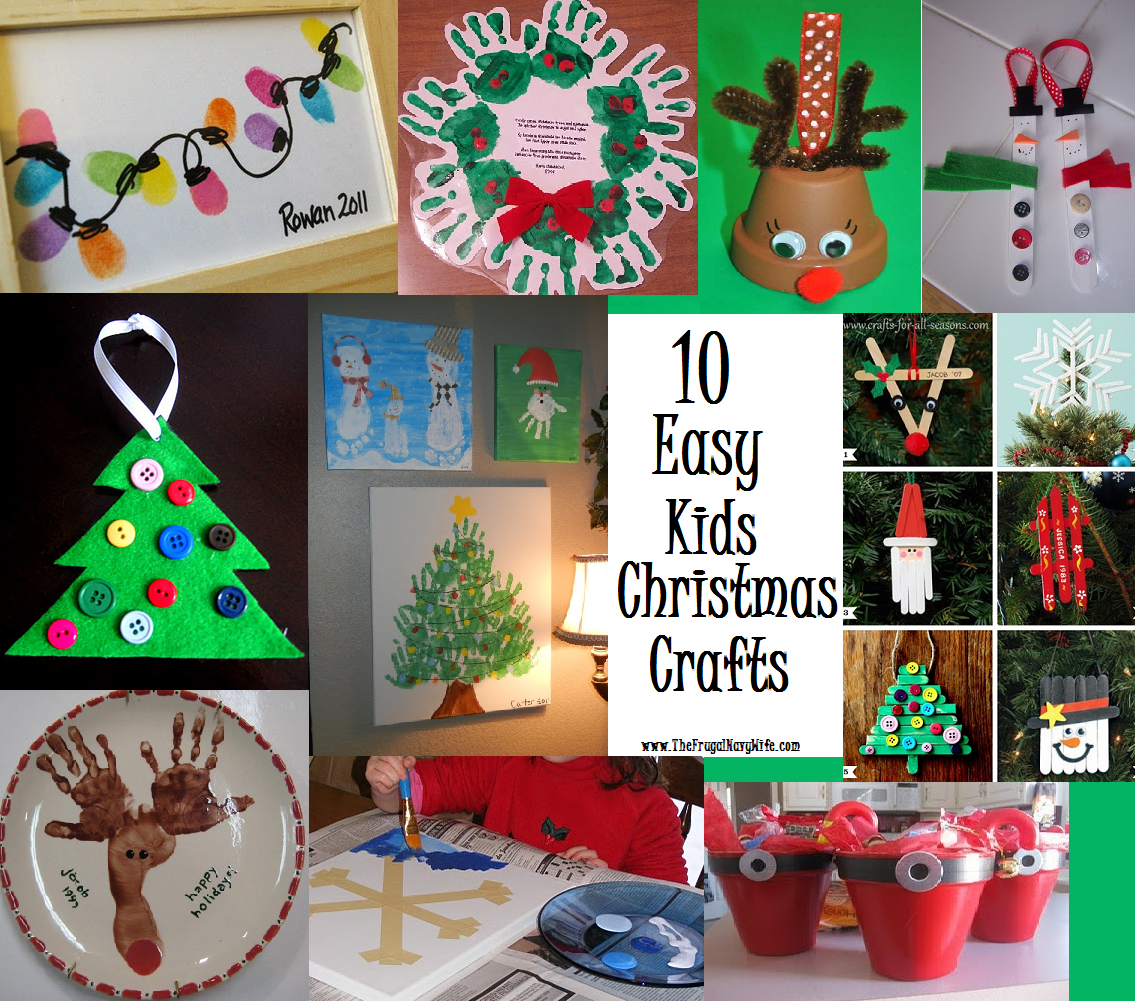10 Easy Kids Christmas Crafts