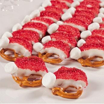 Santa-hat-pretzel