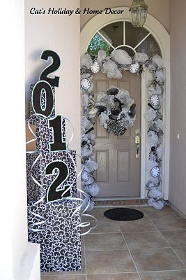 new years eve door decor