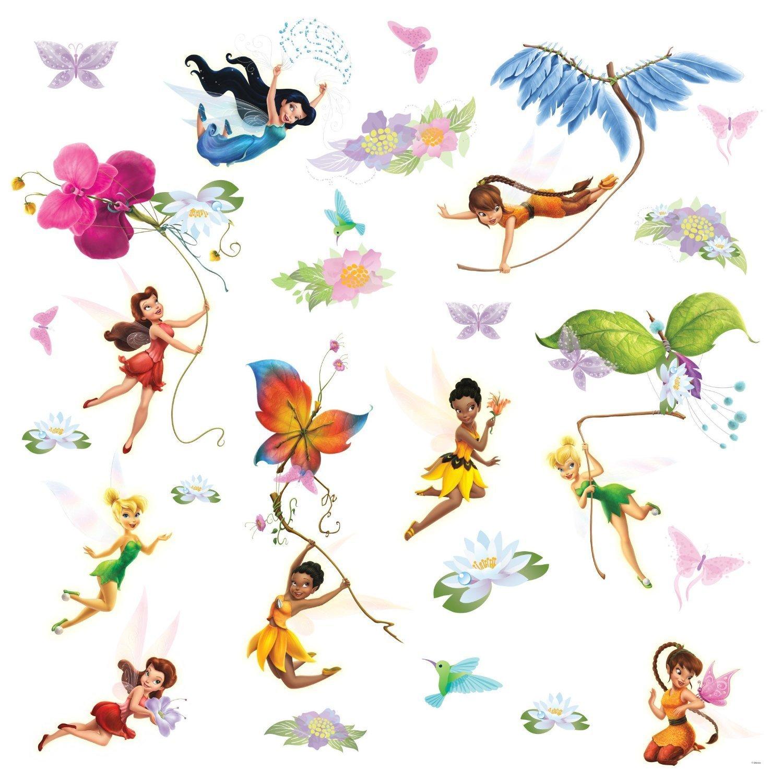 pics photos fairy wall stickers on disney fairies peel