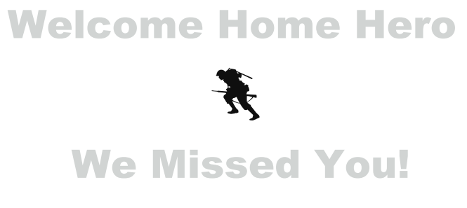 Free Welcome Home Banners And Signs For Military!