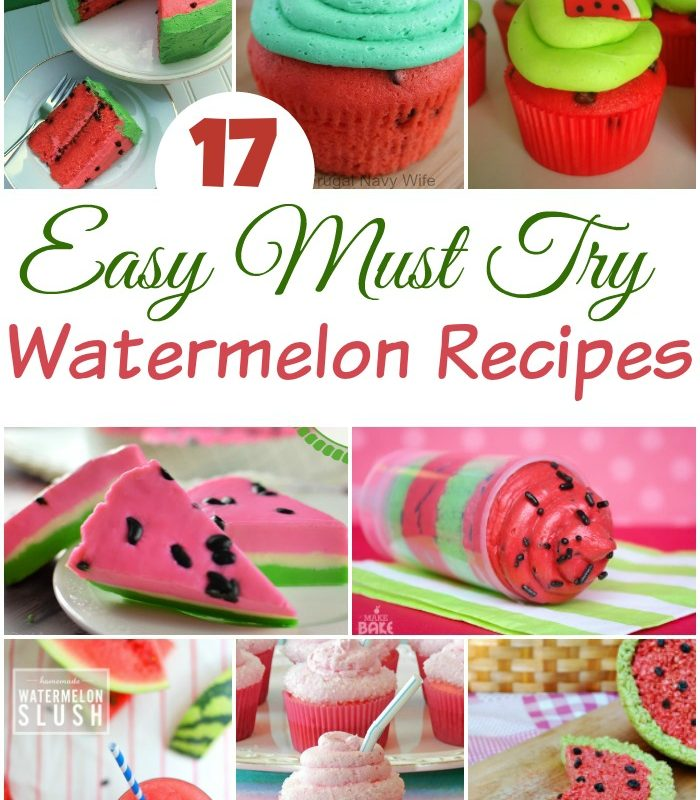 17 Must Try Summer Watermelon Recipes