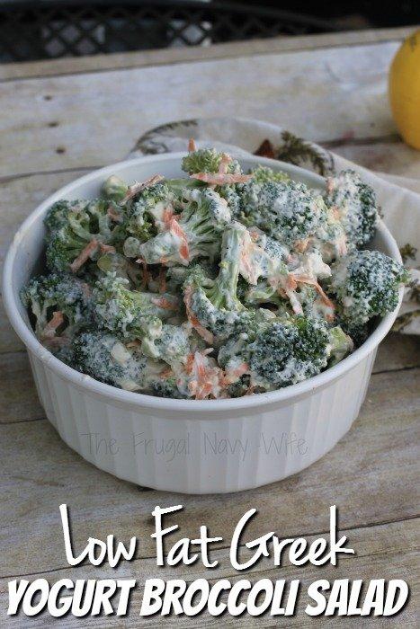 Low Fat Greek Yogurt Broccoli Salad Recipe