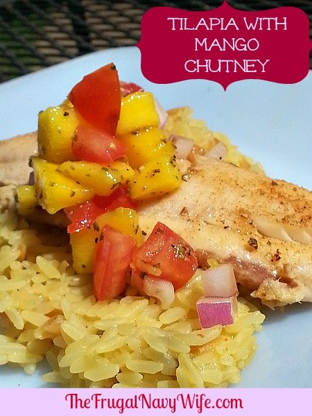 Tilapia with Mango chutney 3