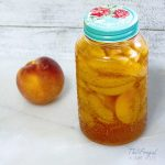 The easiest Peach Pie Filling for Canning is right here. Simple to understand step by step instructions from start to finish. #canningrecipe #canning #peachpie #peachpiefilling #frugalnavywife | Canning 101 | Canning Tips | Canning Pie Filling | Peach Pie Filling Recipe | Peach Pie Recipe