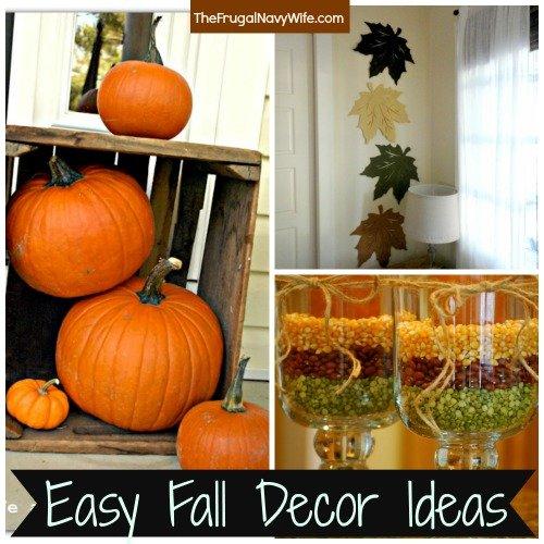 Easy Fall Decor Ideas Edited