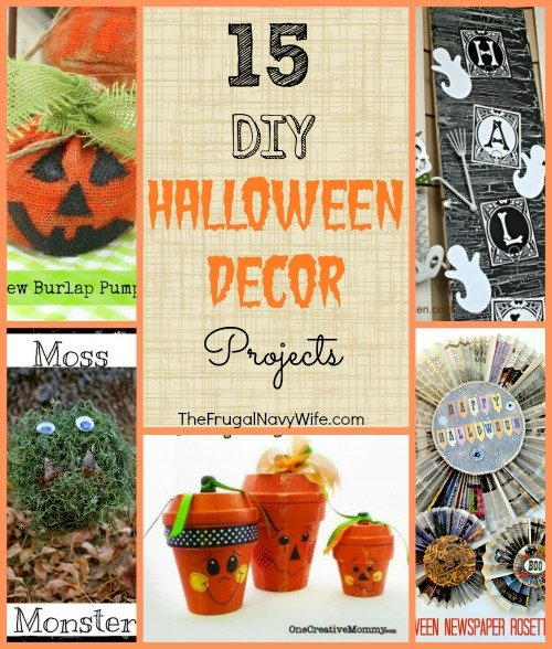 15 DIY Halloween Decor Projects Collage