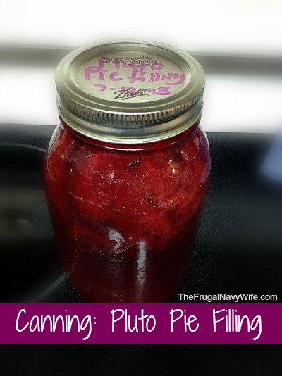 Canning: Pluto Pie Filling