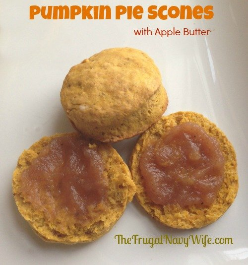 Pumpkin Pie Scones with Apple Butter