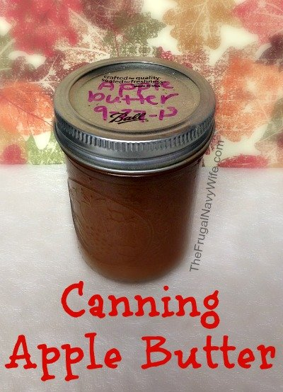 Canning Apple Butter