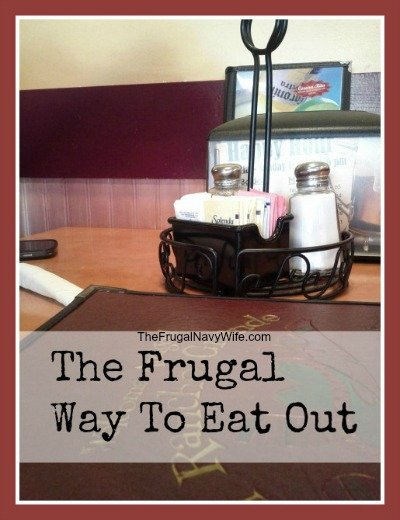 Tips to Eating Out, Frugally