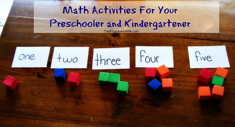 Math Activities for your Pre-Schooler or Kindergartener