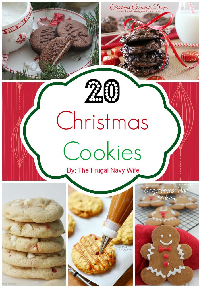 20 Christmas Cookies Collage w Name