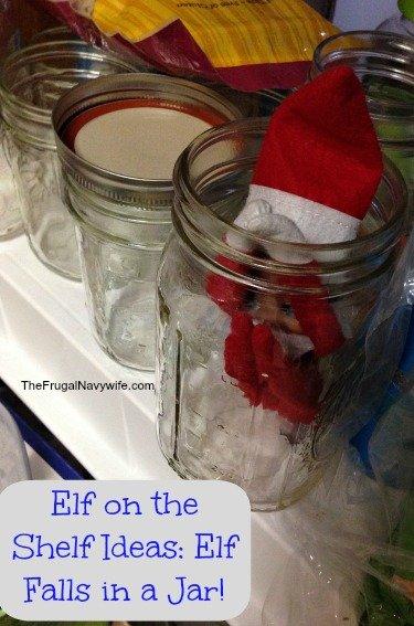 Elf On The Shelf Ideas Elf Falls In A Jar