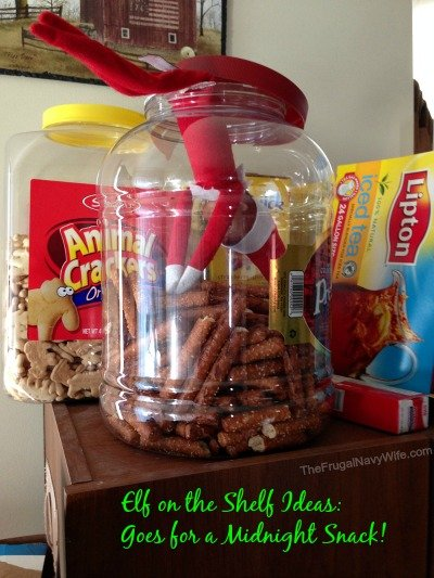 Elf on the Shelf Ideas: Elf Goes for a Midnight Snack!