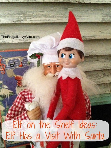 Elf on the Shelf Ideas: Elf Has a Visit With Santa