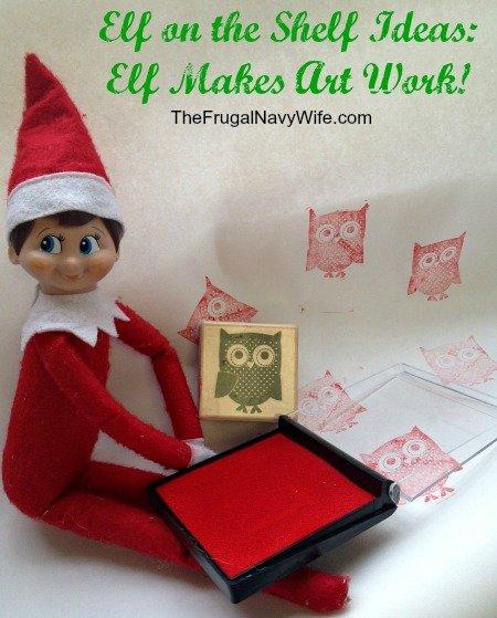 Elf on the Shelf Ideas: Elf Makes Art Work!