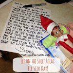 Elf Sick Day Sick Elf on the Shelf - Letter + What to do!