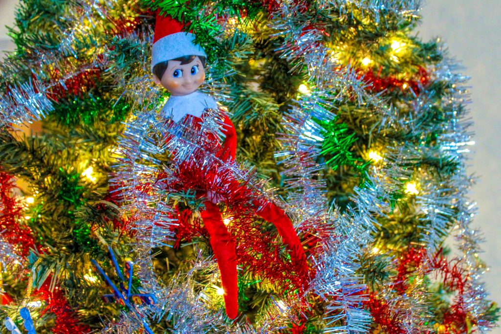Elf on the Shelf Gets Tangled