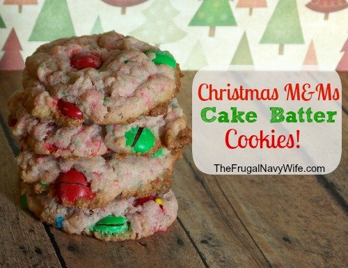 12 days of Christmas Cookies | Christmas M&M Cake Batter Cookies!