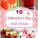 Huge party and a cozy night at home for Valentine's Day make sure to try out some of these Valentine's Day cocktails! #frugalnavywife #valentinesday #cocktailrecipes #adultbeverages #yummyrecipes #easycocktails | Easy Cocktail Recipes | Cocktail Recipes | Valentine's Day Cocktails | Yummy Drink Recipes | Drink Ideas