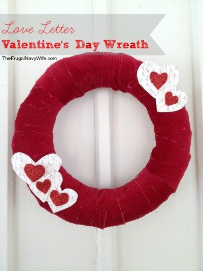 Decorative Doors: DIY Valentine's Day Wreath