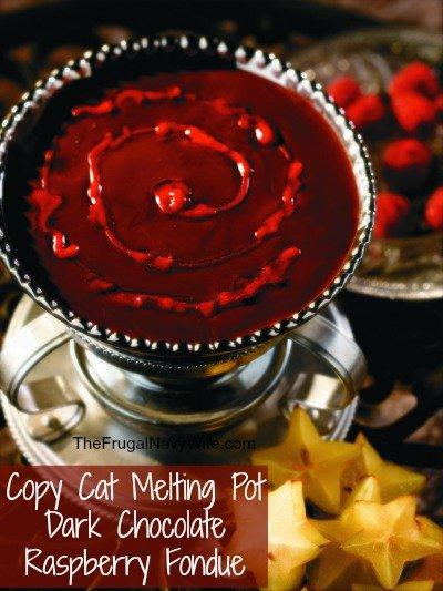 Copy Cat Melting Pot Dark Chocolate Raspberry Fondue