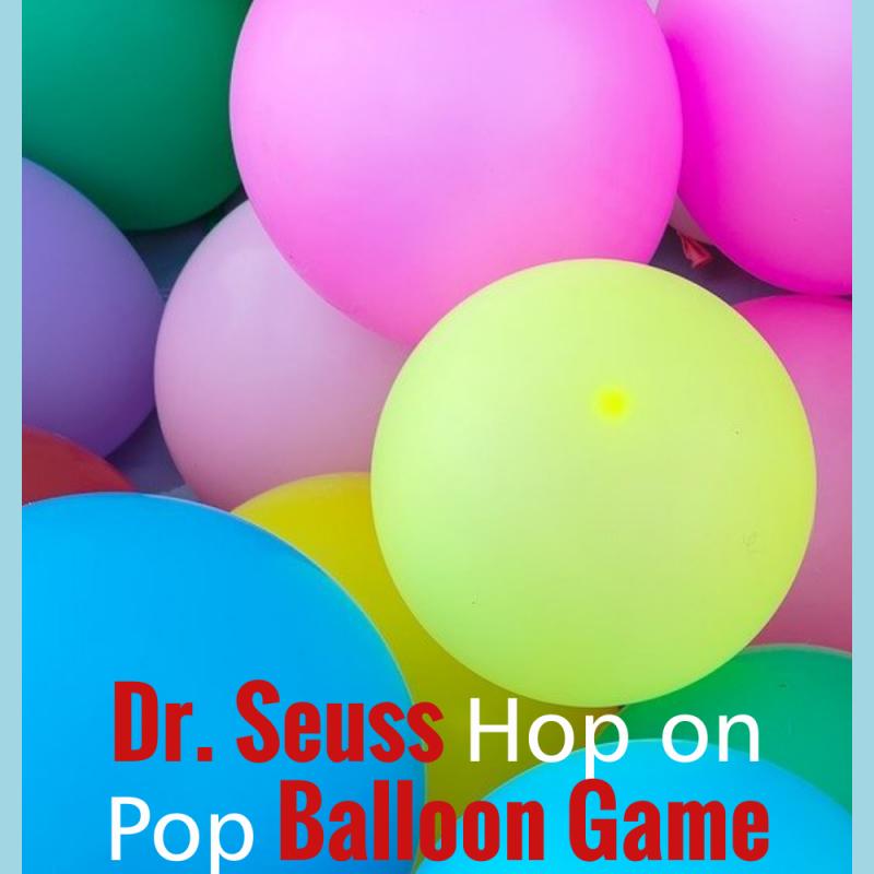 Dr Seuss Hop on Pop Balloon Game