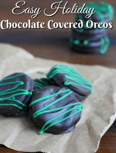 Oreo Cookie Recipe – Green Stripe Chocolate Covered Oreos