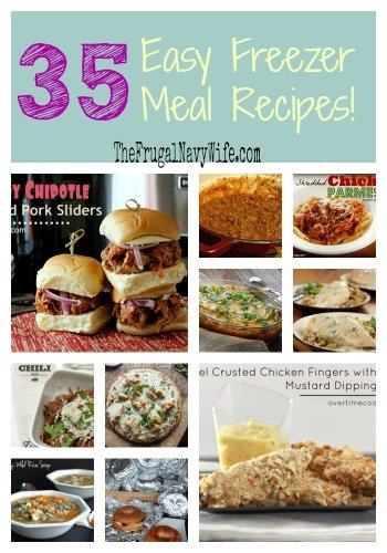 35 Easy Freezer Meals Round Up