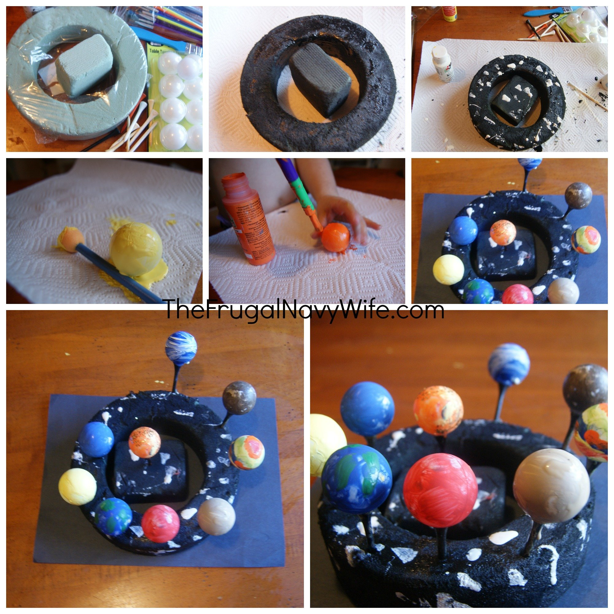 Model of Solar System For School Project Solar System Art Project