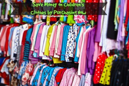 Save Money on Children's Clothes by Purchasing Now
