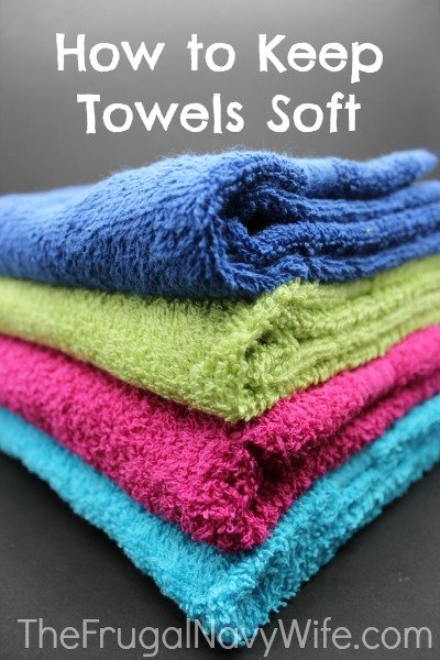 How to keep towels soft without using fabric softener for How to keep white towels white