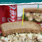 The Chick fil A Chicken Salad Sandwich is the best and this simple and easy copycat recipe is great when you can't make it out to grab this one yourself! #frualnavywife #chicfila #copycat #recipe #lunch #dinner #chickensalad | Chick Fil A Copycat Recipe | Chicken Salad Recipe | Easy Chicken Salad Recipe | Copycat Recipes | Chick Fil A Recipes