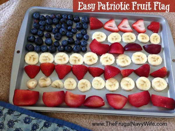 Easy Patriotic Fruit Flag