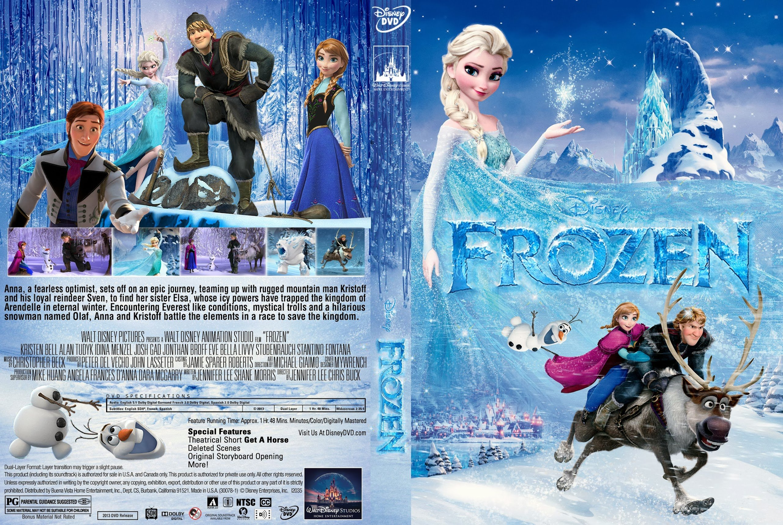 Disney's Frozen Only 25¢!! 4 Disney DVD's of YOUR Choice Only $1.00 SHIPPED!