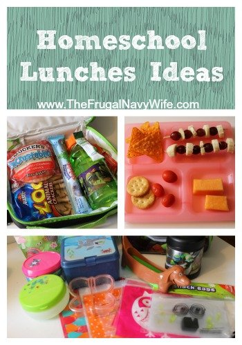 Homeschool Lunches Ideas