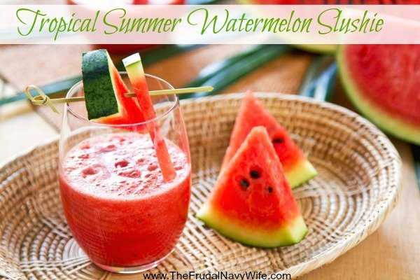 Tropical Summer Watermelon Slushie