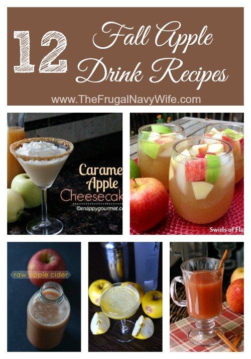 12 Fall Apple Drink Recipe Roundup