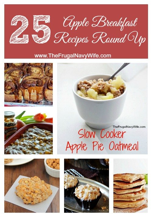 25 Apple Breakfast Recipes Round Up