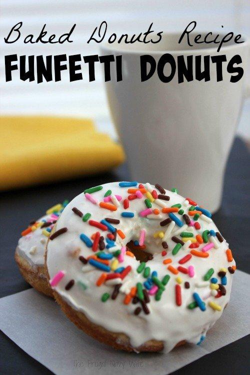 Baked Donuts Recipe – Baked Funfetti Donuts