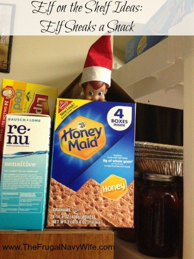Elf on the Shelf Ideas: Elf Sneaks a Snack