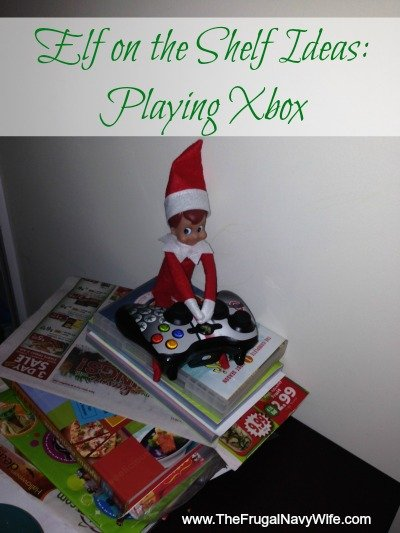 Elf on the Shelf Ideas Playing Xbox