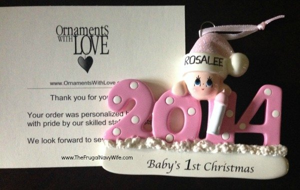Ornaments With Love Baby's First Christmas Ornament