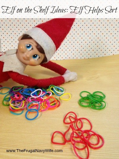 Elf on the Shelf Ideas: Elf Helps Sort