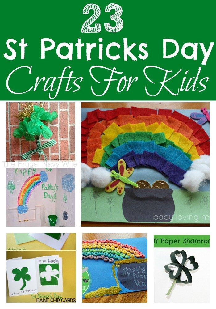 23 St Patricks Day Crafts For Kids