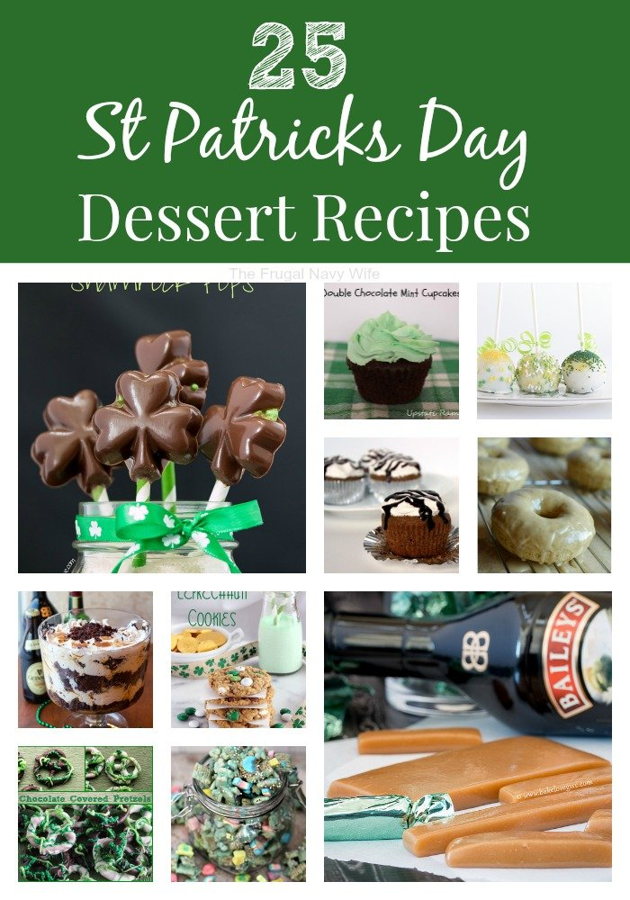 25 St Patrick's Day Dessert Recipes