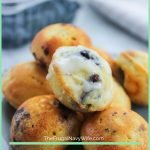 If you want to make the best breakfast (that you can cook once and eat for days!) try these easy blueberry pancakes, they are bite-size! #frugalnavywife #breakfast #grabngo #makeaheadmeals #pancake #bitesized | Breakfast Ideas | Snack Ideas | Grab n Go Snacks | Make Ahead Breakfast Ideas | Bite Sized Foods