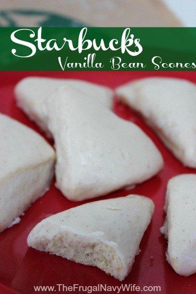 Starbucks Recipes  – Vanilla Bean Scone Recipe
